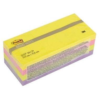 3M Basic Not Kağıdı Karışık Parlak Renkler Renkli